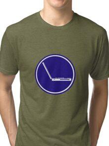 LAPTOP PARKING ROAD SIGN Tri-blend T-Shirt