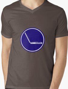 LAPTOP PARKING ROAD SIGN Mens V-Neck T-Shirt