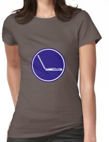 LAPTOP PARKING ROAD SIGN Womens Fitted T-Shirt