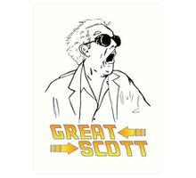 BTTF Great Scott Art Print