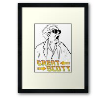 BTTF Great Scott Framed Print