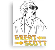 BTTF Great Scott Metal Print