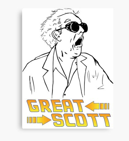 BTTF Great Scott Canvas Print
