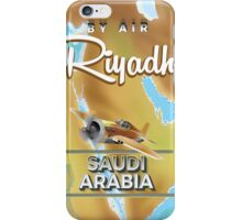 Riyadh Saudi Arabia vintage travel poster. iPhone Case/Skin