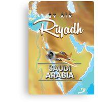 Riyadh Saudi Arabia vintage travel poster. Canvas Print