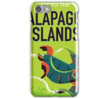 Galapagos Islands vintage travel poster art. iPhone Case/Skin