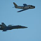 Sabre And Hornet @ Temora Airshow 2009 by muz2142