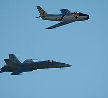 Sabre And Hornet @ Temora Airshow 2009 by muz2142