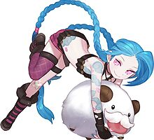 league of legends jinx and poro  by keichi