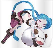 league of legends jinx and poro  Poster