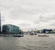 View from Tower Bridge of the river Thames by frommyhorizon