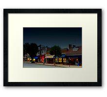 Spring Lake Main Street  Framed Print