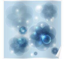 Fiery Bubbles Poster