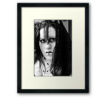 Raven BW Framed Print