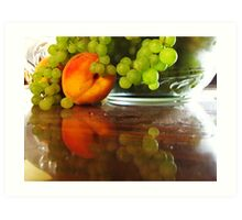 YES, I DID bring home some of the grapes!!! Art Print