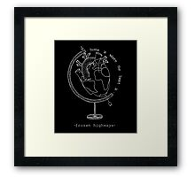 Home Is Where The Heart Is (White) Framed Print