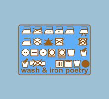 WASH AND IRON POETRY PICTOGRAMS Womens Fitted T-Shirt