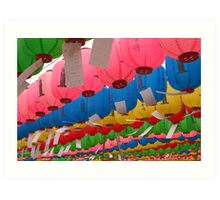 Birthday Lanterns - Beopju Temple, South Korea Art Print