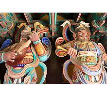 Heavenly Kings - Bulgok Temple, South Korea Photographic Print