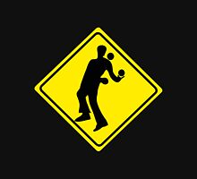 WARNING JUGGLER ROAD SIGN Unisex T-Shirt