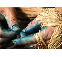 Stained Hands - Sapa, Vietnam Photographic Print