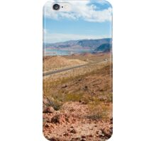 Beautiful alien landscape of Lake Mead, Nevada iPhone Case/Skin