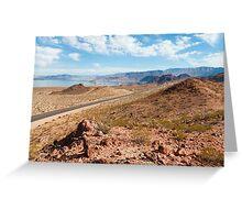 Beautiful alien landscape of Lake Mead, Nevada Greeting Card