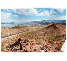 Beautiful alien landscape of Lake Mead, Nevada Poster