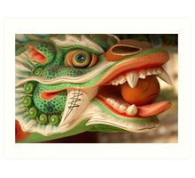 Dragon Head - Haein Temple, South Korea Art Print