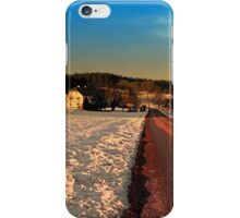 Country road through winter wonderland | landscape photography iPhone Case/Skin