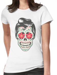 Skull art Womens Fitted T-Shirt