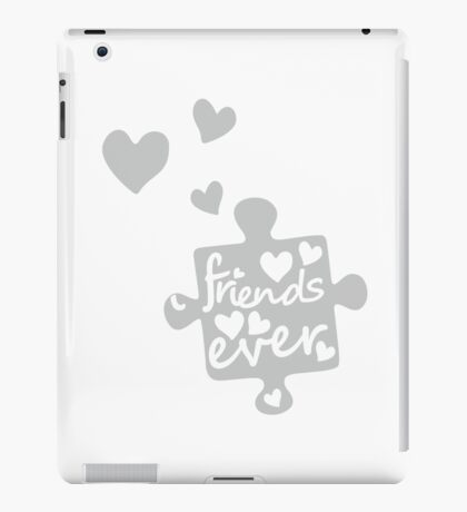 White Best Friends Forever Connection Puzzle (right) iPad Case/Skin
