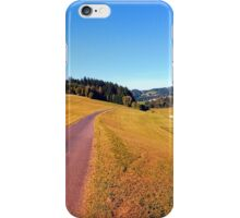Country road with scenery | landscape photography iPhone Case/Skin