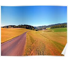 Country road with scenery | landscape photography Poster