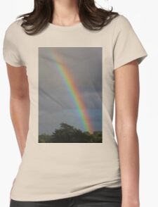 Rainbow Sky Womens Fitted T-Shirt