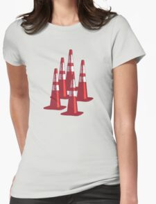 TRAFIC CONES PYLON Womens Fitted T-Shirt