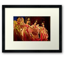 Tang Dynasty Dance - Xi'an, China Framed Print