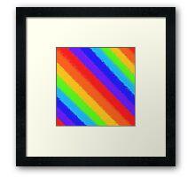 Soft Rainbow Stripes Framed Print