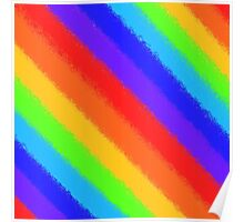 Soft Rainbow Stripes Poster