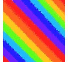 Soft Rainbow Stripes Photographic Print