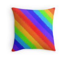 Soft Rainbow Stripes Throw Pillow