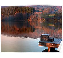 Romantic evening at the lake | waterscape photography Poster