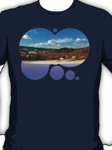 Colorful winter wonderland with clouds | landscape photography T-Shirt