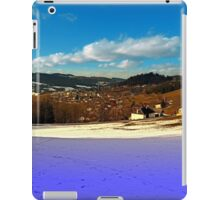 Colorful winter wonderland with clouds | landscape photography iPad Case/Skin