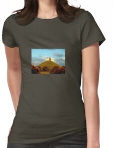 Glastonbury Tor Womens Fitted T-Shirt