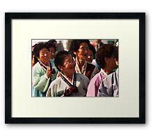 Ajuma - Andong, South Korea Framed Print