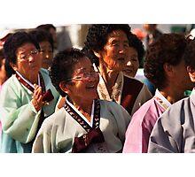 Ajuma - Andong, South Korea Photographic Print