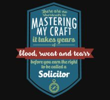 """""""There are no shortcuts to Mastering My Craft, it takes years of blood, sweat and tears before you earn the right to be called a Solicitor"""" Collection #450205 by mycraft"""