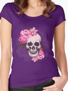 Skull flower Women's Fitted Scoop T-Shirt
