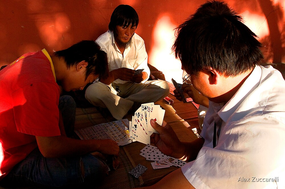 Card Sharks - Beijing, China by Alex Zuccarelli
